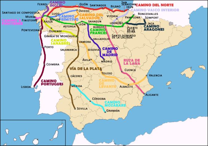 Rutas del Camino de Santiago
